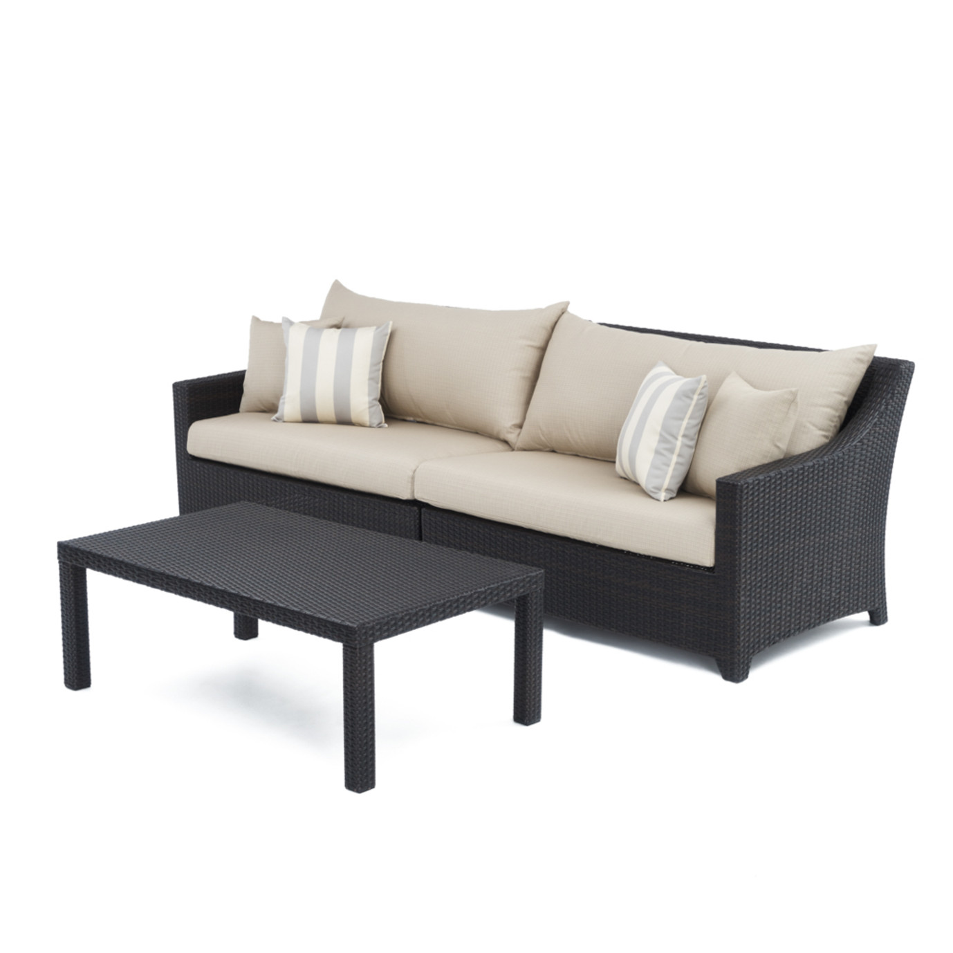 Deco™ Sofa with Coffee Table - Slate Grey
