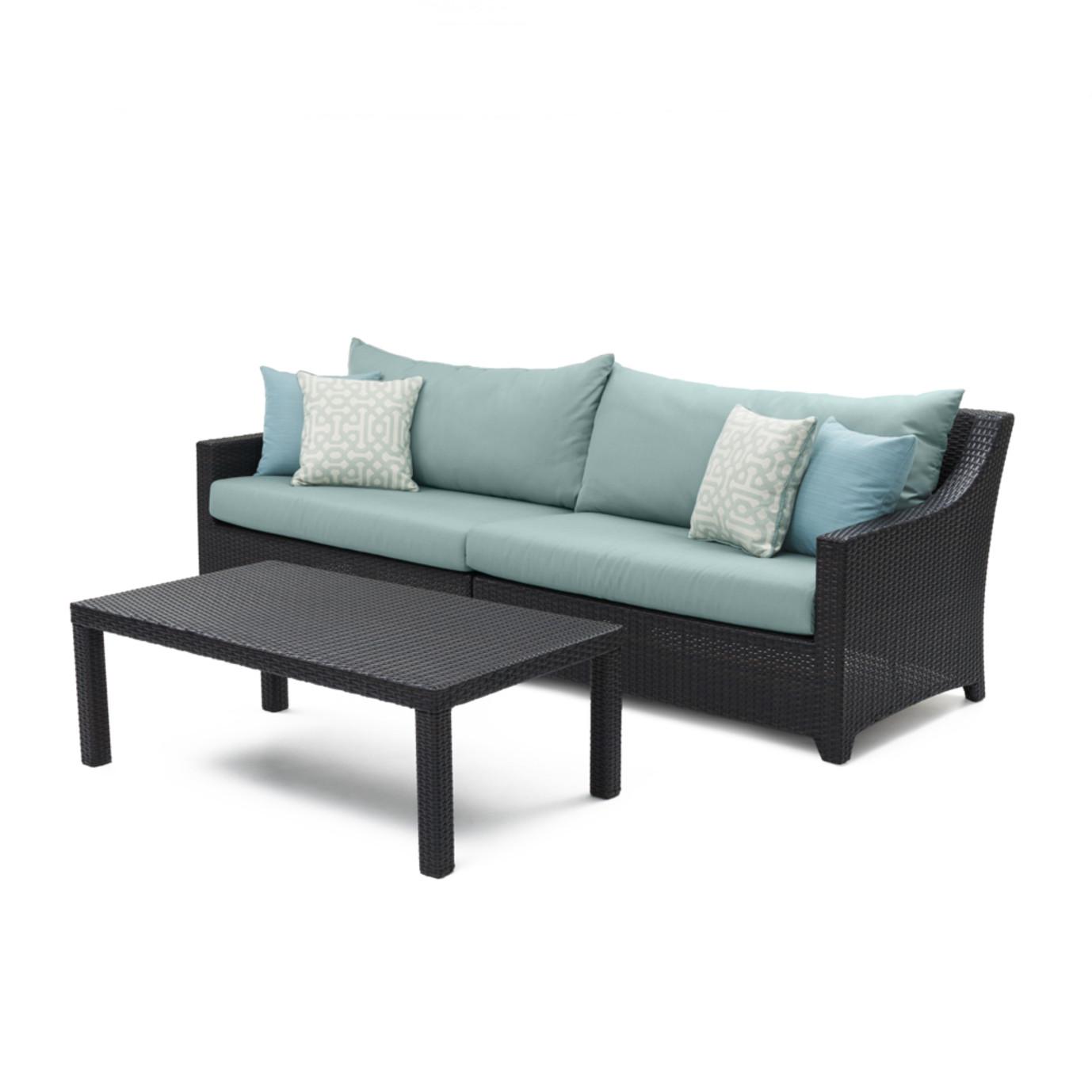 Deco™ Sofa & Coffee Table - Spa Blue