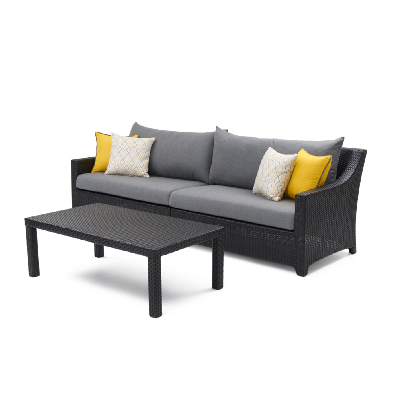 Deco sofa coffee table sunflower yellow rst brands for Sofa table yellow