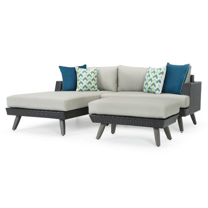 Portofino® Casual 3pc Chaise Seating Set - Dove Gray