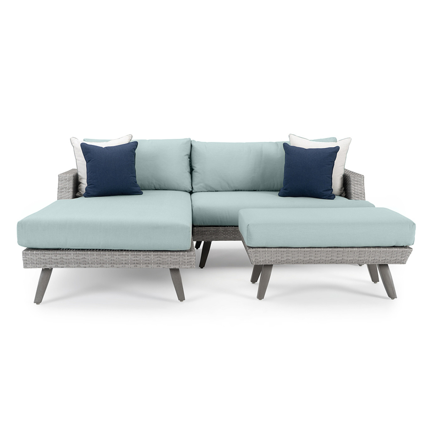 Portofino® Casual 3pc Chaise Seating Set - Spa Blue