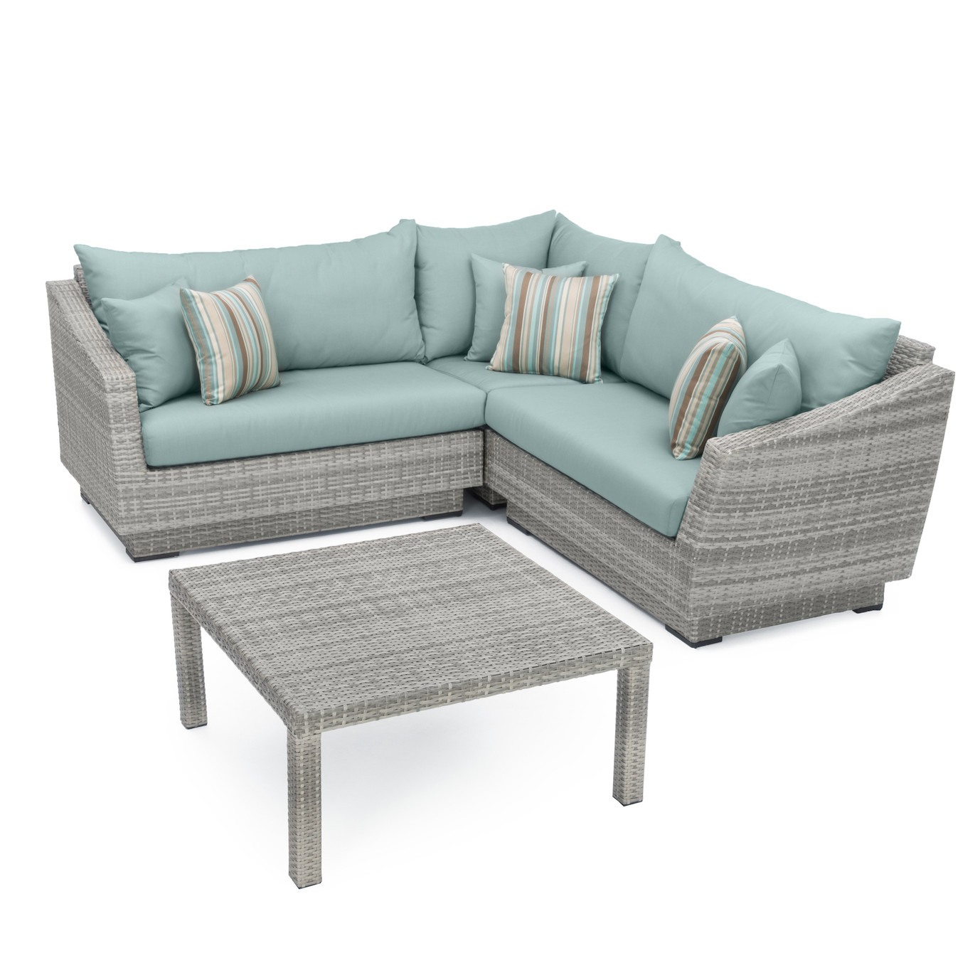 Cannes™ 4pc Sectional & Table - Bliss Blue