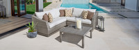 Cannes™ 4 Piece Sectional & Table - Moroccan Cream