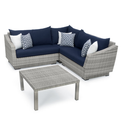 Brilliant Cannes 4Pc Sectional Table Navy Blue Pabps2019 Chair Design Images Pabps2019Com