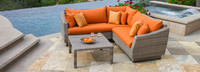Cannes™ 4 Piece Sectional & Table - Spa Blue