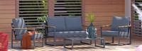 Enro 4 Piece Seating Set - Gray