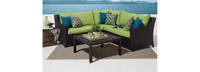 Deco™ 4 Piece Sectional and Table - Ginkgo Green