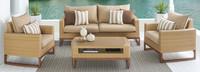 Mili™ 4 Piece Seating Set - Charcoal Gray