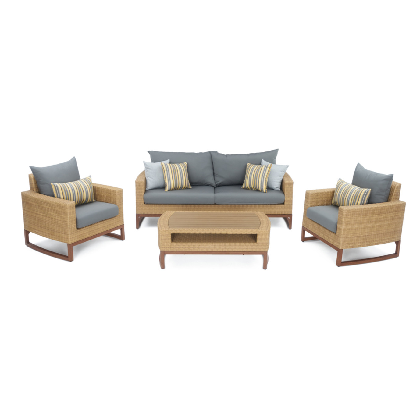 Mili 4pc Seating Set Charcoal Grey Rst Brands