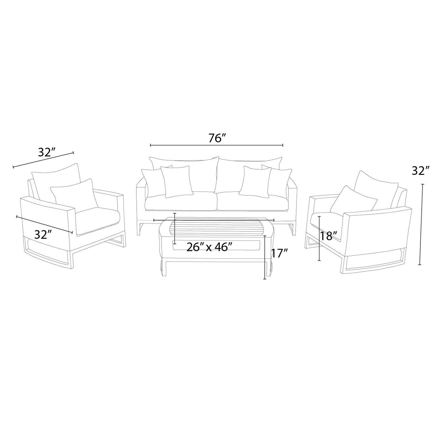 Mili™ 4pc Seating Set - Maxim Beige