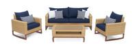 Mili™ 4 Piece Seating Set - Navy Blue