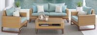 Mili™ 4 Piece Seating Set - Spa Blue