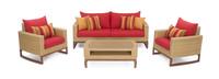 Mili™ 4 Piece Seating Set - Sunset Red