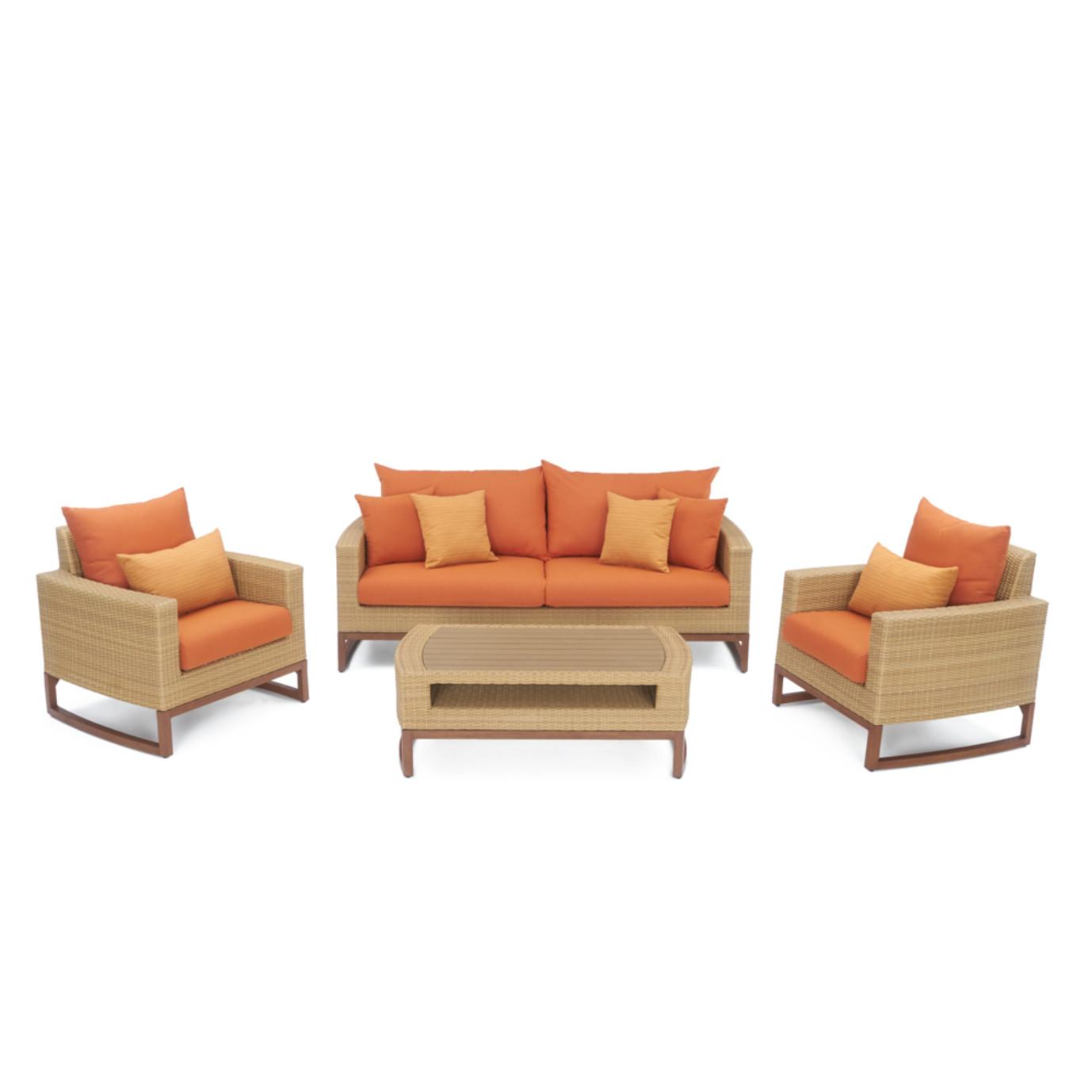 Mili™ 4pc Seating Set - Tikka Orange
