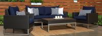 Milo™ Espresso 4 Piece Seating Set - Charcoal Gray