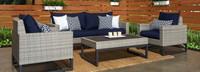 Milo™ Gray 4 Piece Seating Set - Charcoal Gray