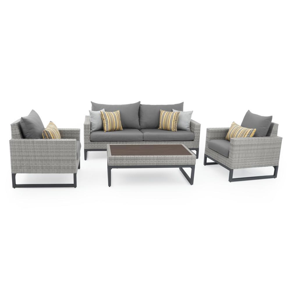 Milo™ Grey 4pc Seating Set - Charcoal Grey