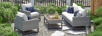 Milo™ Gray 4 Piece Seating Set - Centered Ink