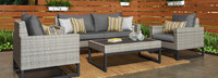 Milo™ Gray 4 Piece Seating Set - Maxim Beige