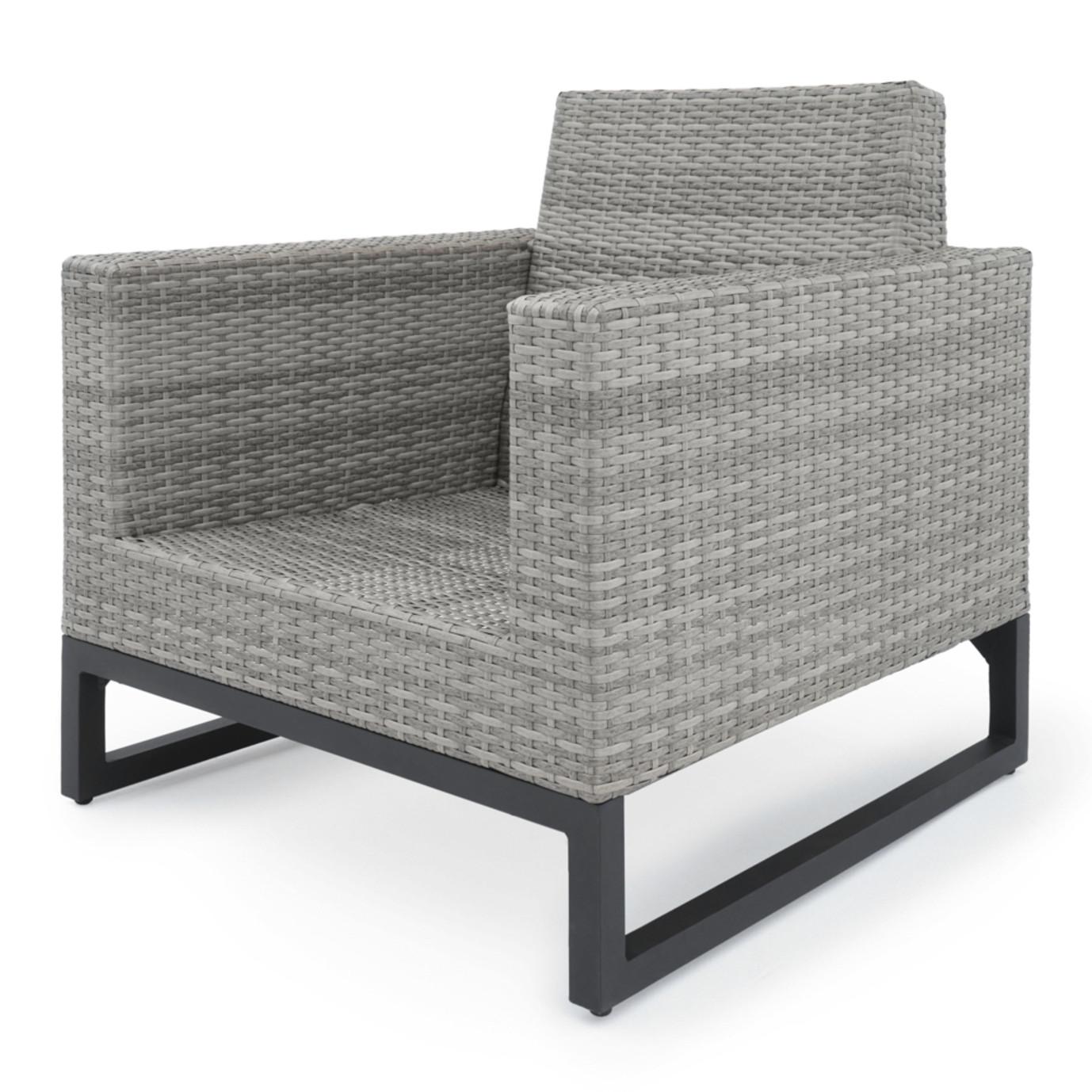 Milo™ Gray 4pc Seating Set - Navy Blue