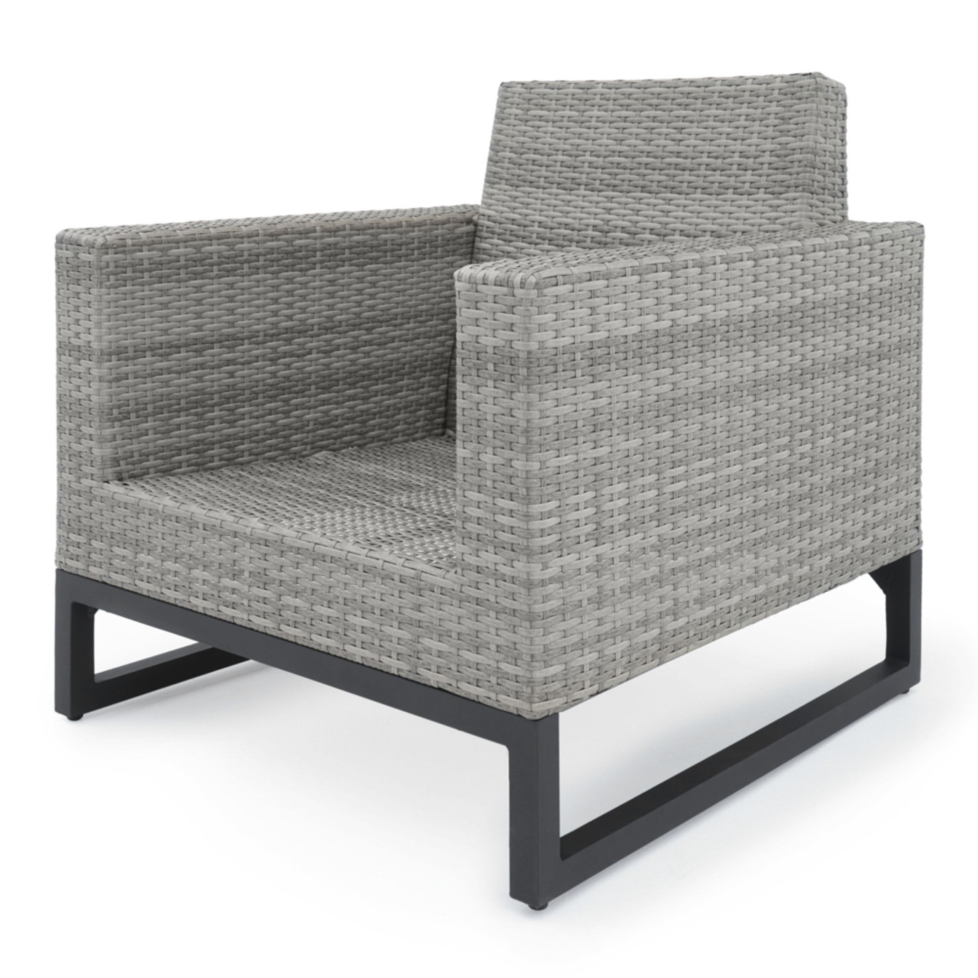 Milo™ Gray 4 Piece Seating Set - Navy Blue