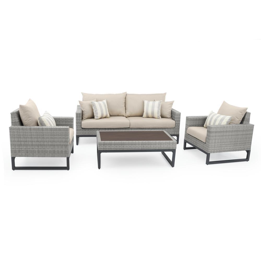 Milo™ Grey 4pc Seating Set - Slate Grey