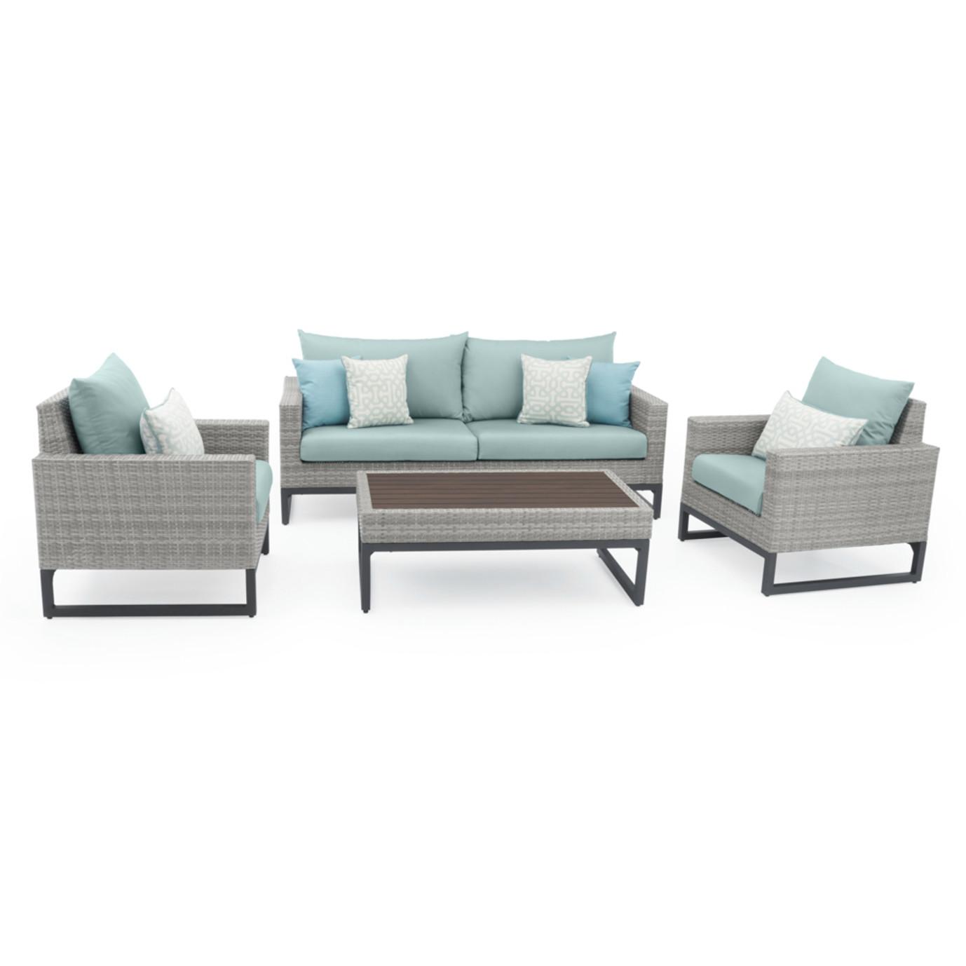Milo™ Gray 4pc Seating Set - Spa Blue