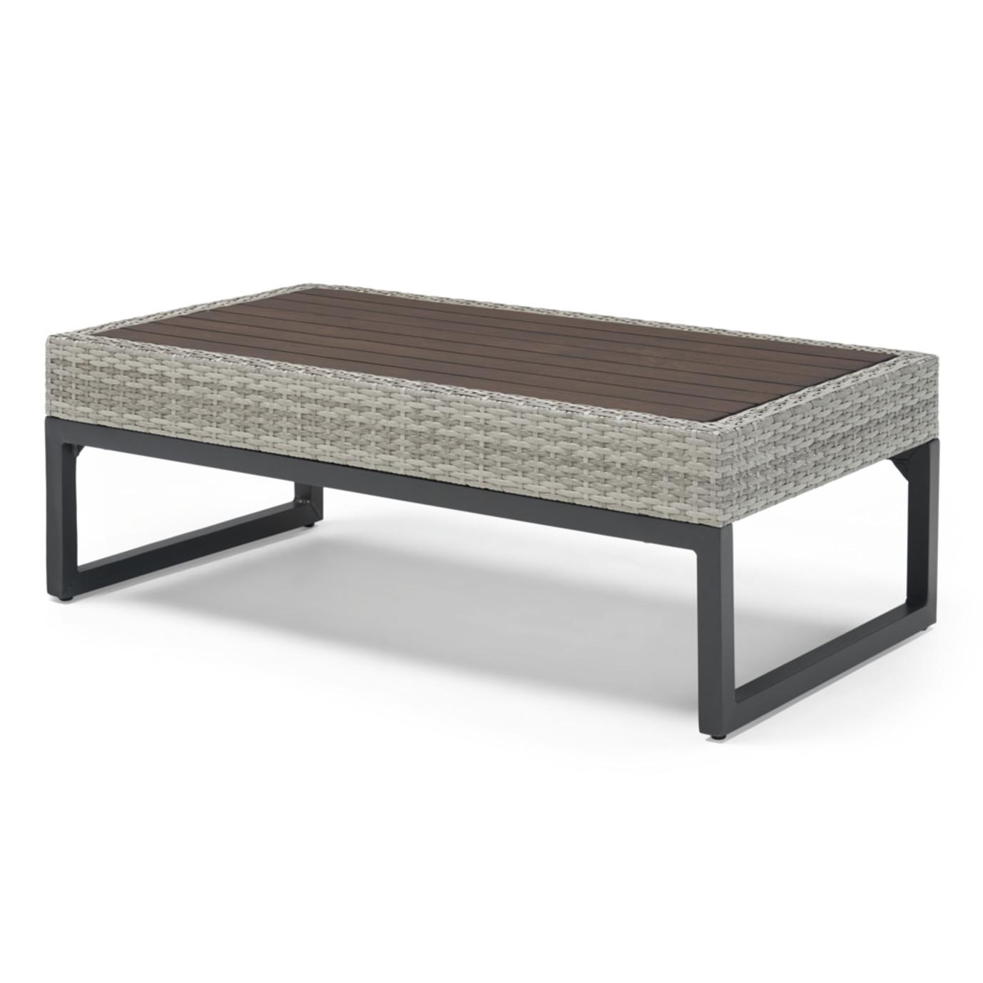 Milo™ Gray 4 Piece Seating Set - Spa Blue