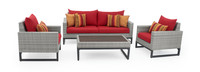 Milo™ Gray 4 Piece Seating Set - Sunset Red