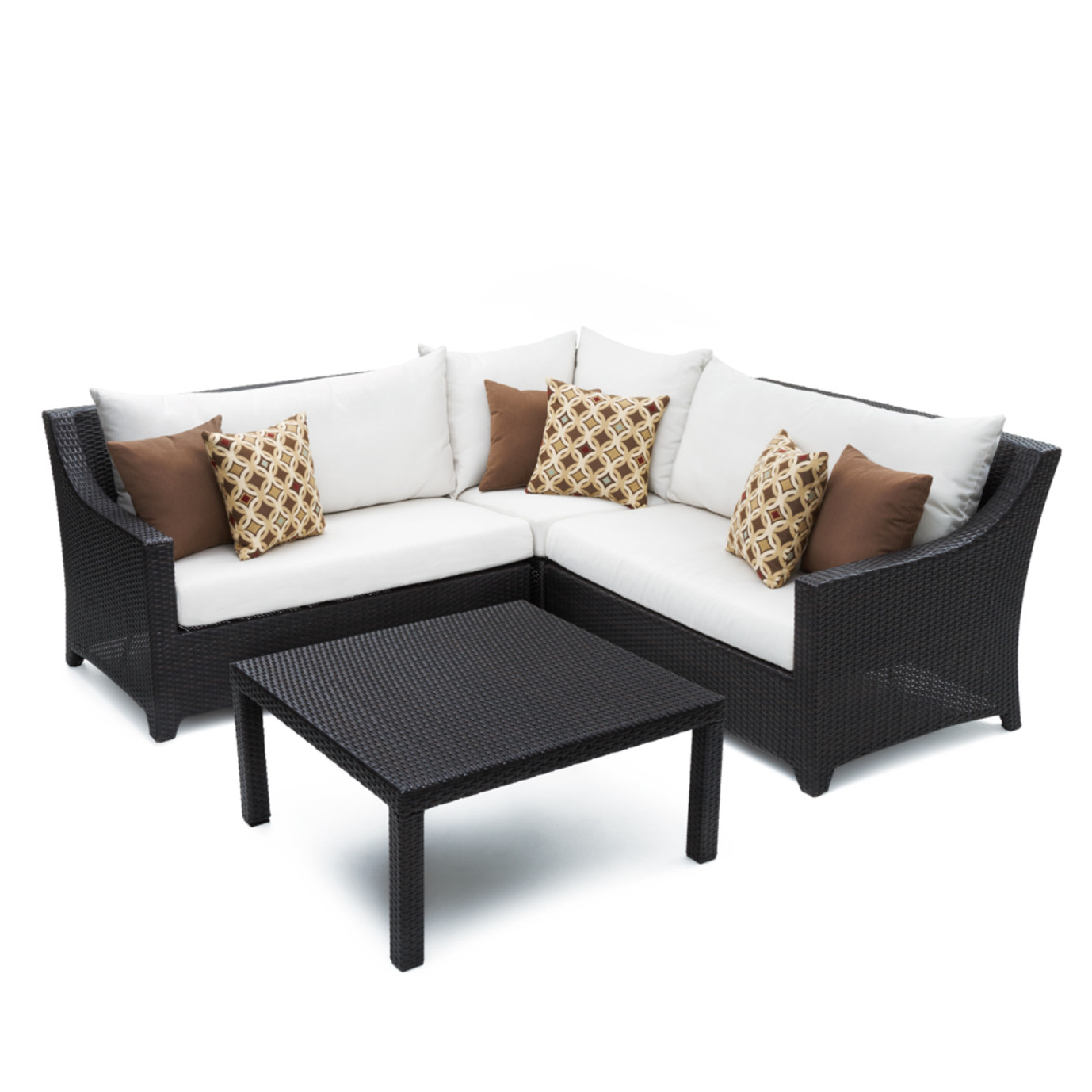 Deco™ 4pc Sectional and Table - Moroccan Cream