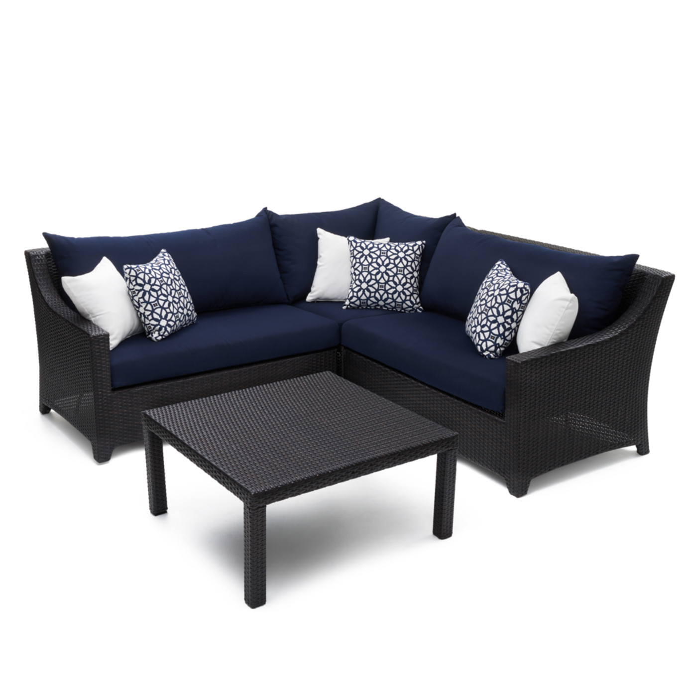 Deco™ 4pc Sectional and Table - Navy Blue