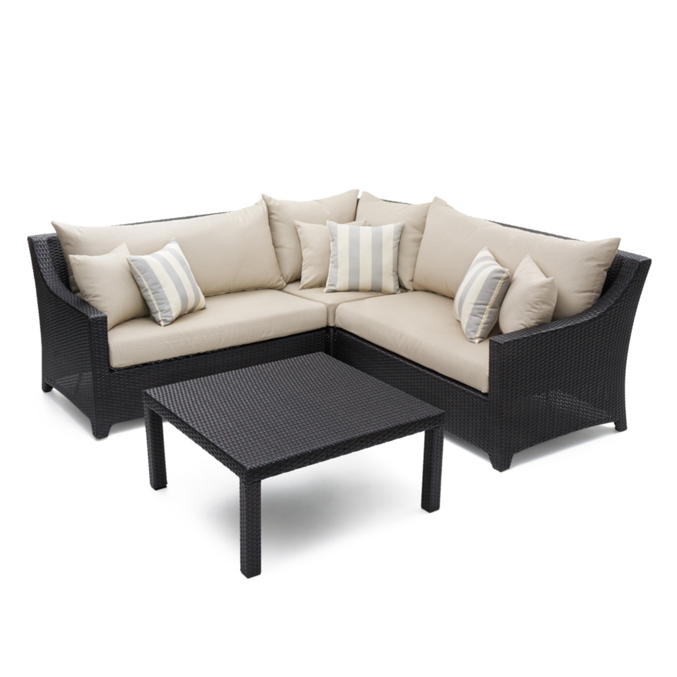Deco™ 4pc Sectional and Table - Slate Gray