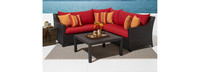Deco™ 4 Piece Sectional and Table - Spa Blue