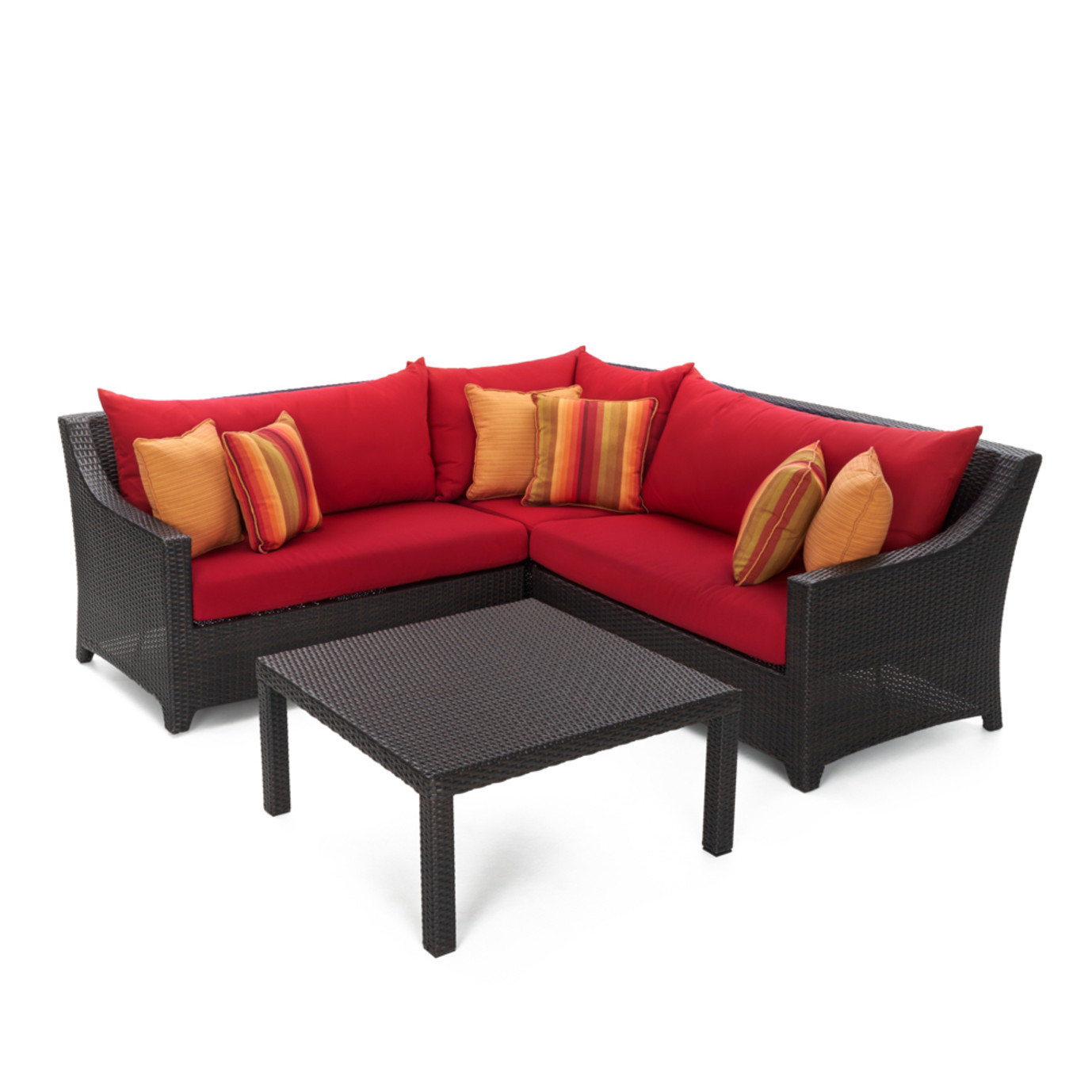 Deco™ 4pc Sectional and Table - Sunset Red