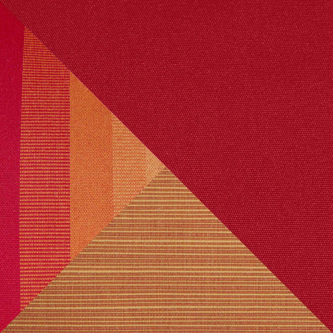 Milo Espresso 4 Piece Sectional - Sunset Red