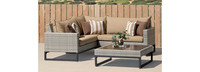 Milo™ Gray 4 Piece Sectional - Charcoal Gray