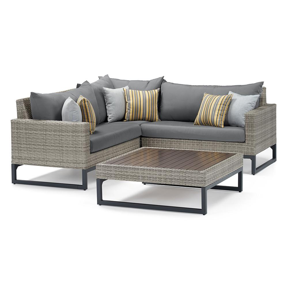 Milo Gray 4 Piece Sectional - Charcoal Gray