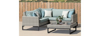 Milo™ Gray 4 Piece Sectional - Navy Blue