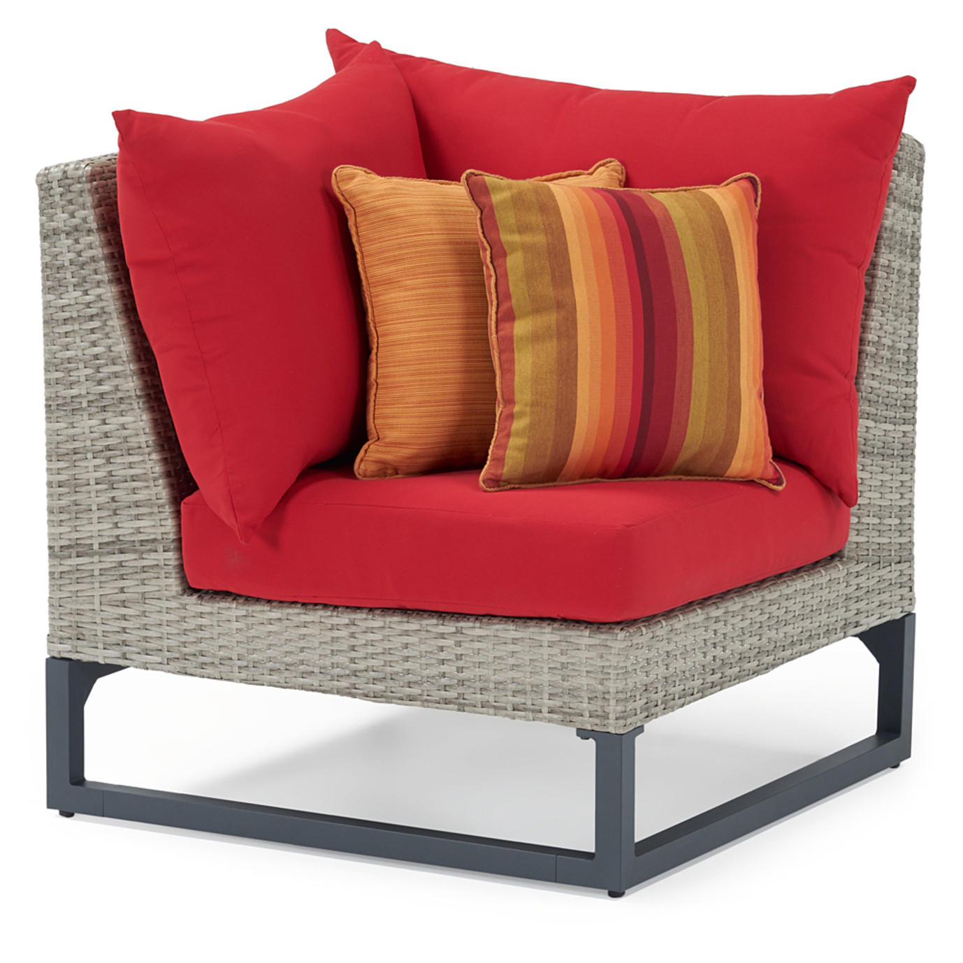 Milo Gray 4 Piece Sectional - Sunset Red