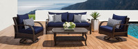 Barcelo™ 4 Piece Motion Club & Sofa Set - Bliss Blue