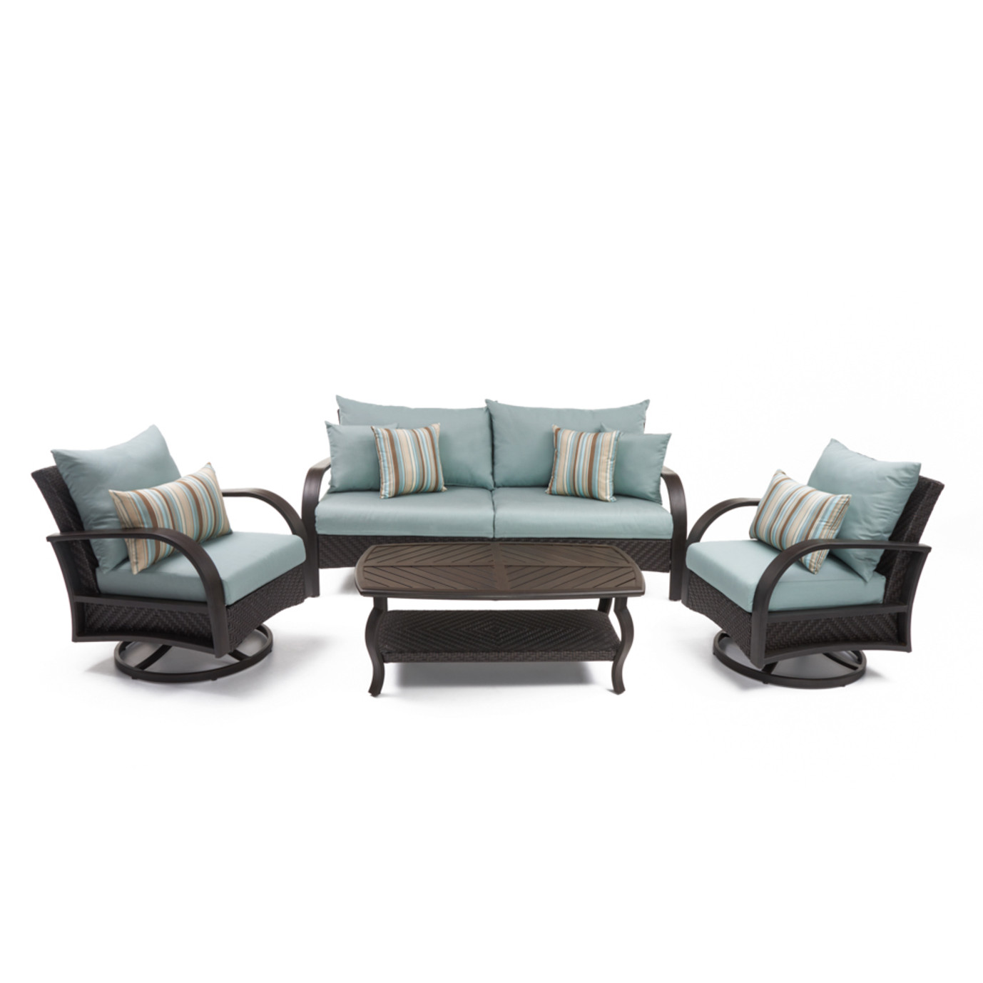 Barcelo™ 4 Piece Motion Club & Sofa Set - Bliss Blue