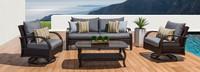 Barcelo™ 4 Piece Motion Club & Sofa Set - Charcoal Gray
