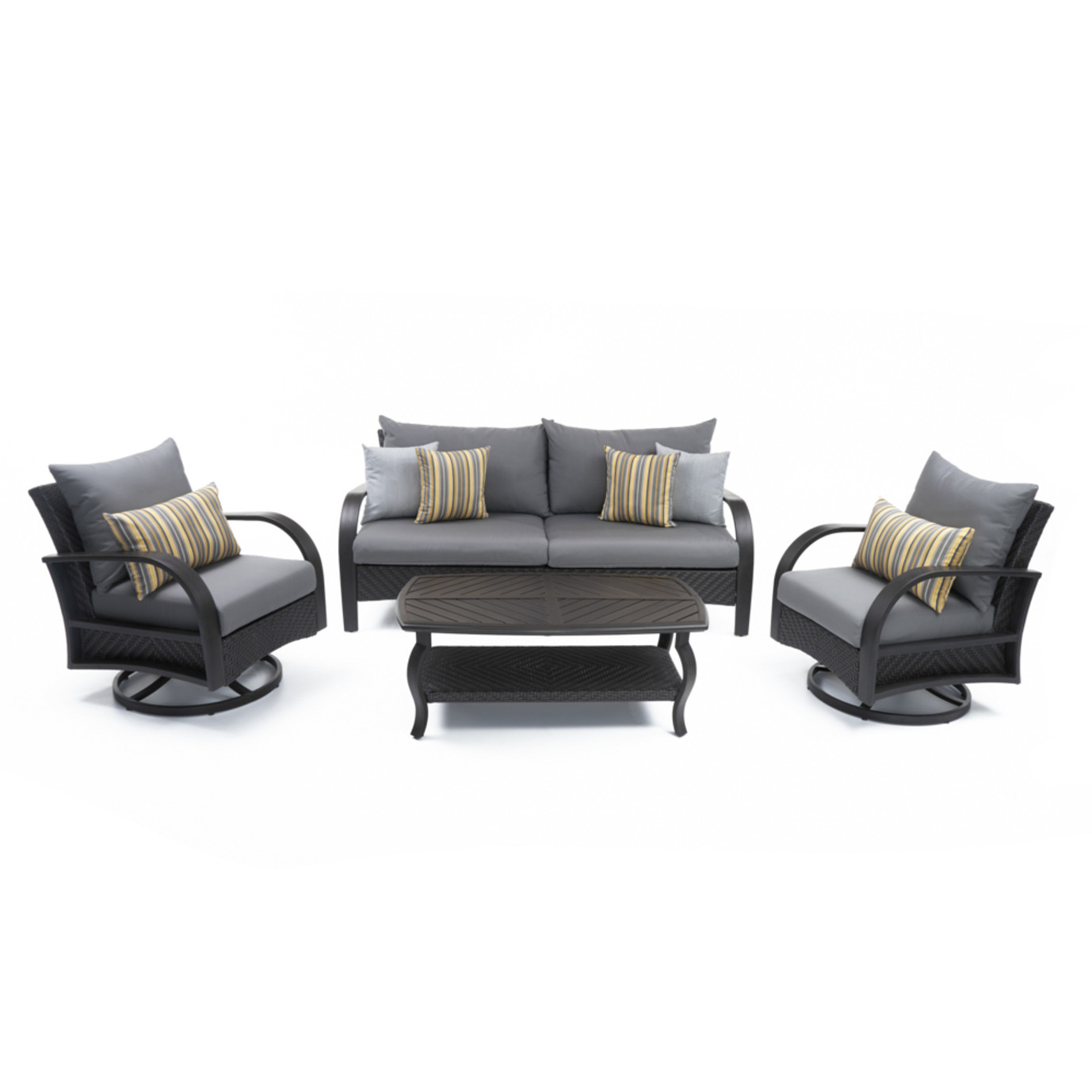 Barcelo™ 4 Piece Motion Club & Sofa Set - Charcoal Gray