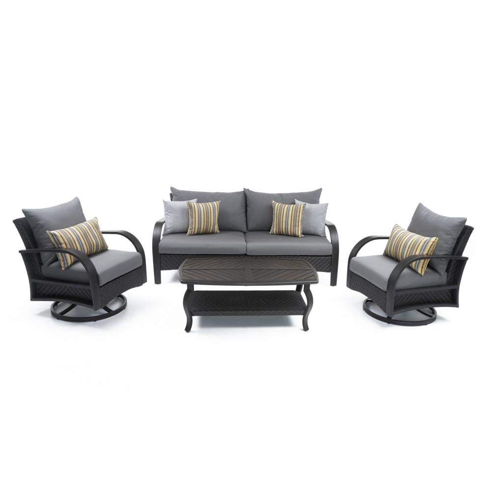 ... Barcelo™ 4pc Motion Club U0026 Sofa Set   Charcoal Grey ...