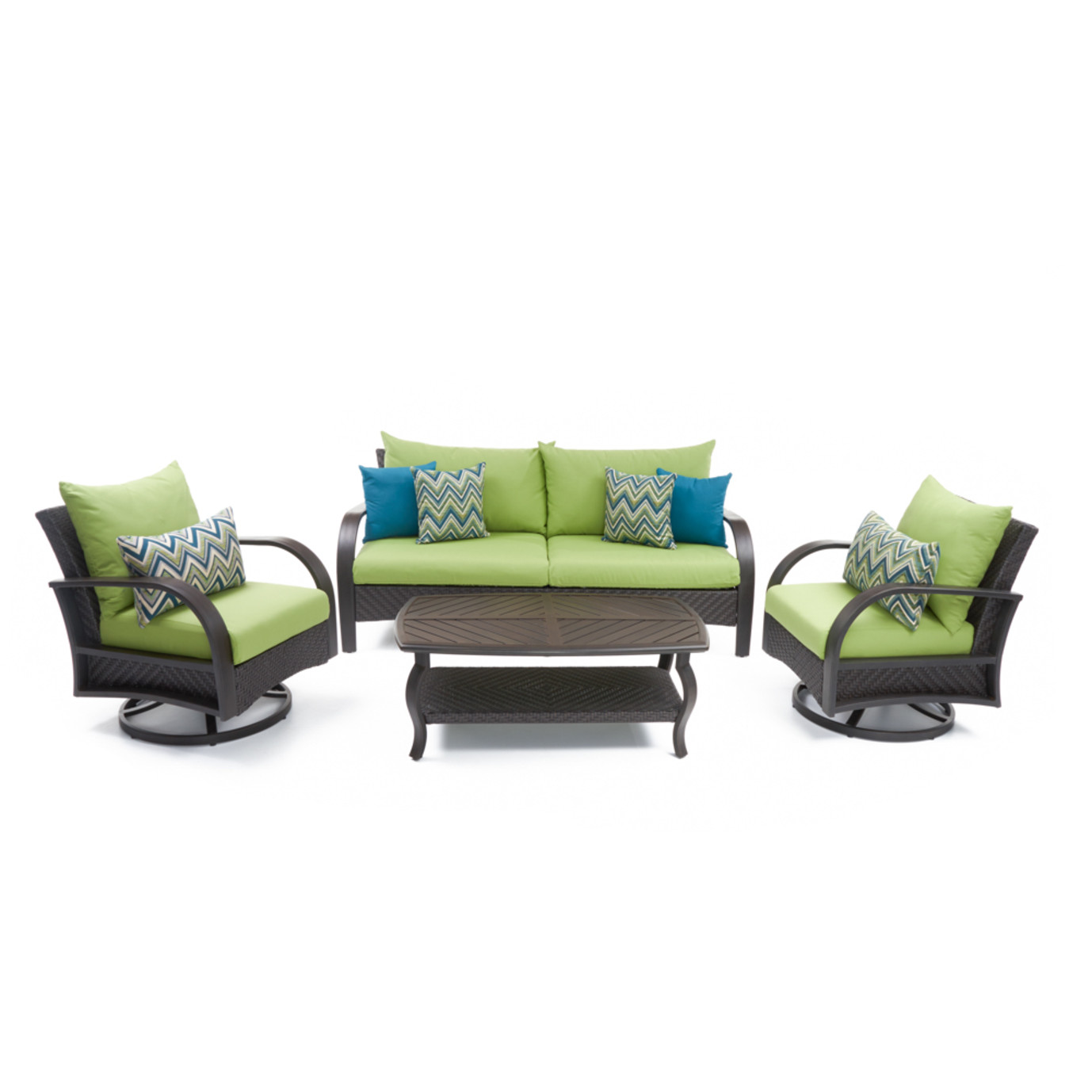 Barcelo™ 4 Piece Motion Club & Sofa Set - Ginkgo Green