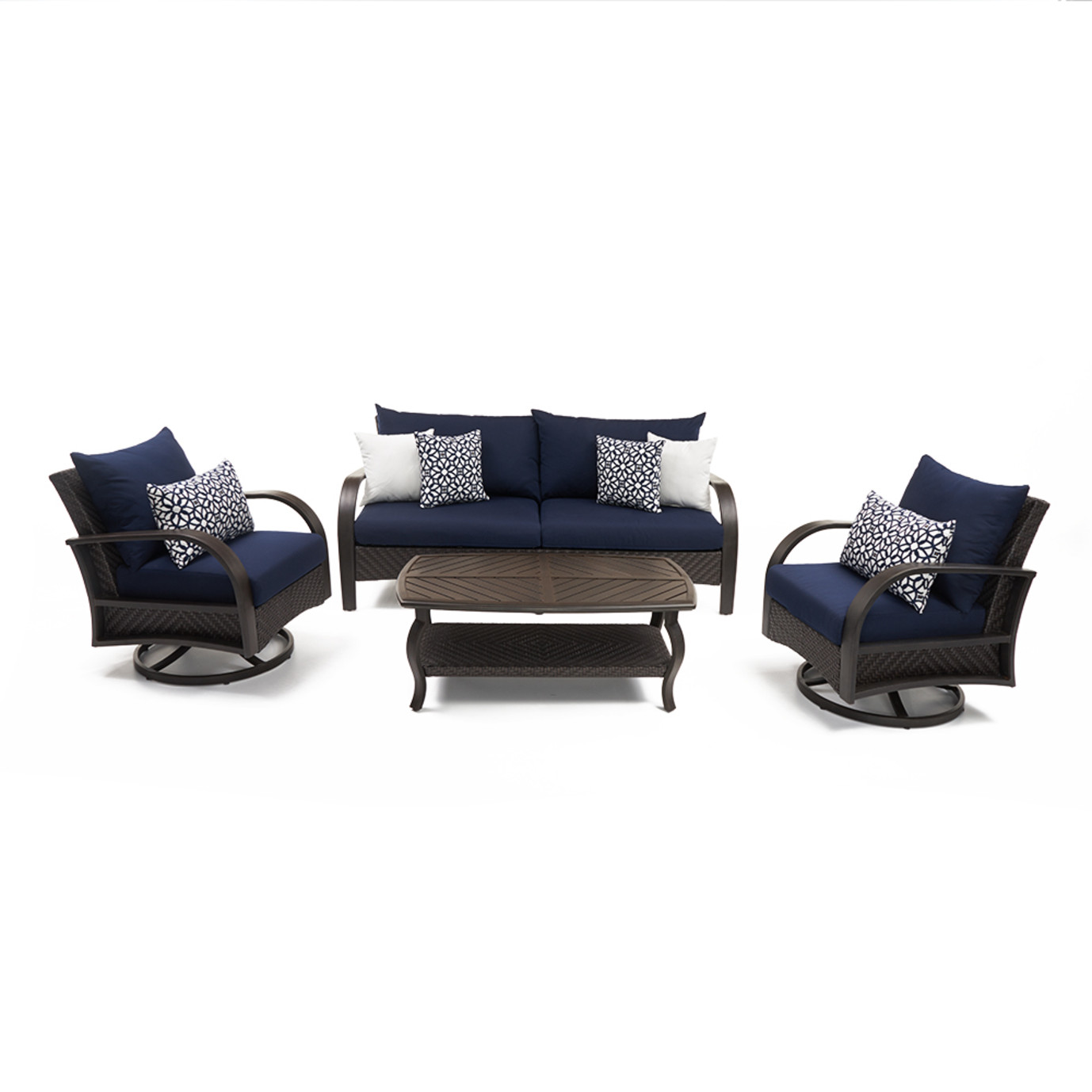 Barcelo™ 4 Piece Motion Club & Sofa Set - Navy Blue