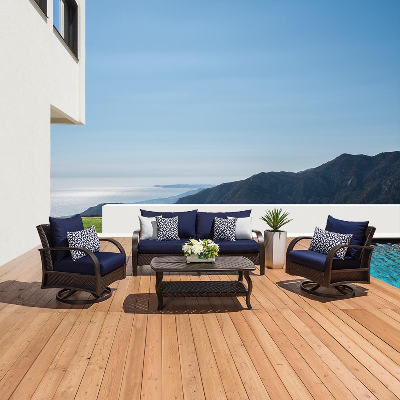 Barcelo™ 4pc Motion Club & Sofa Set - Navy Blue