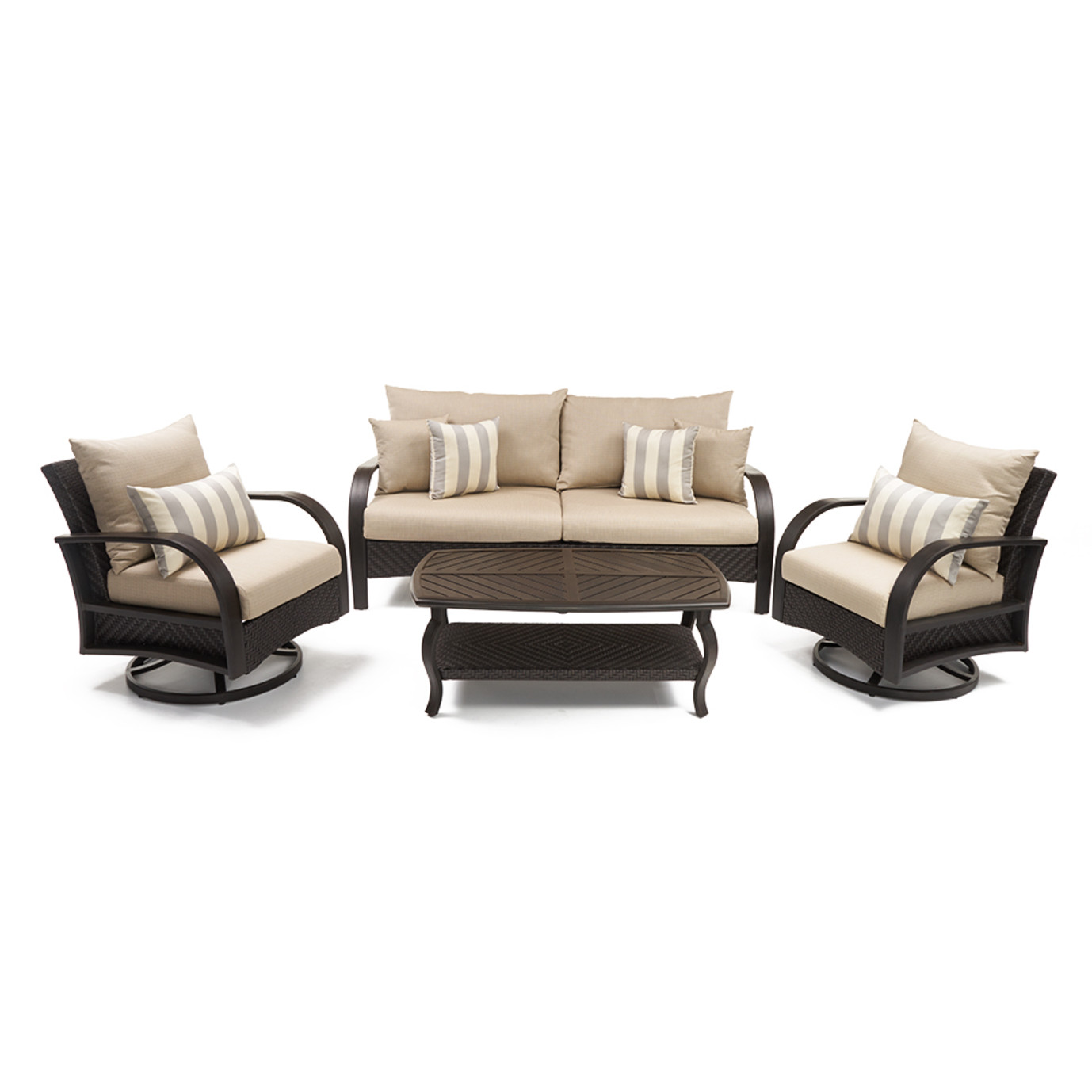 Barcelo™ 4pc Motion Club & Sofa Set - Slate Gray