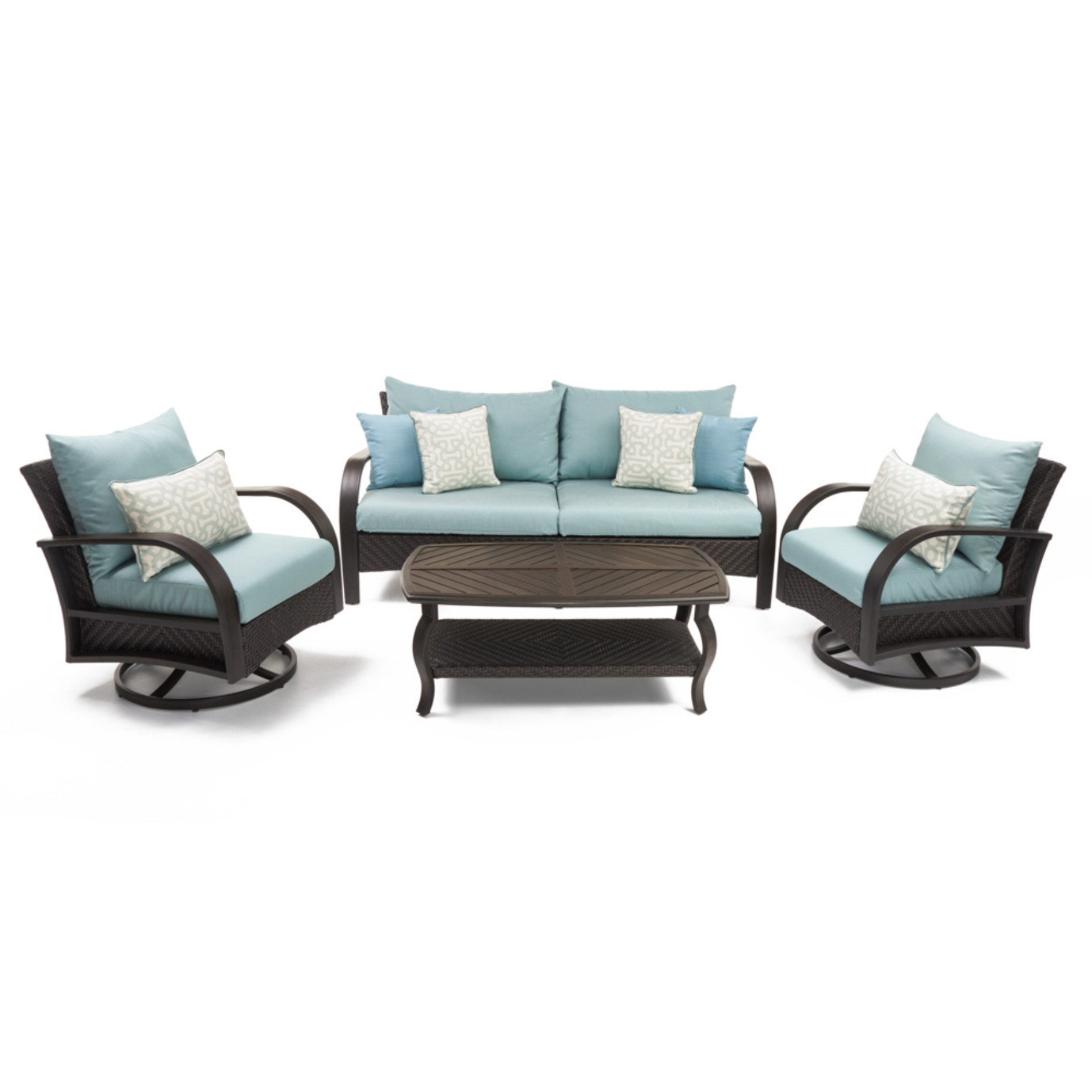 Barcelo™ 4 Piece Motion Club & Sofa Set - Spa Blue