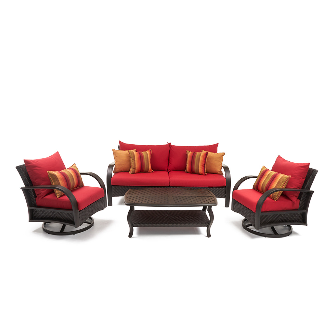 Barcelo™ 4pc Motion Club & Sofa Set - Sunset Red